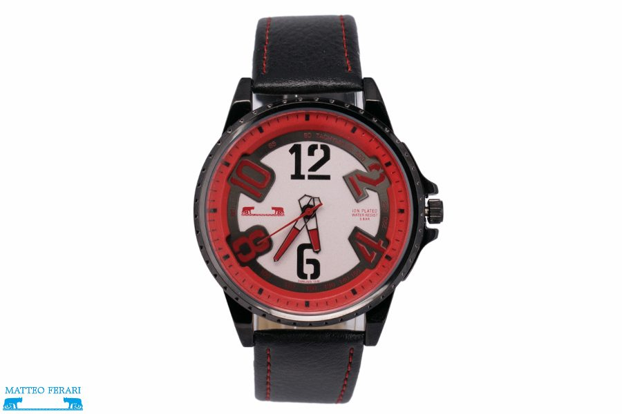 Ceas Barbatesc Matteo Ferari Black/Red Casual III