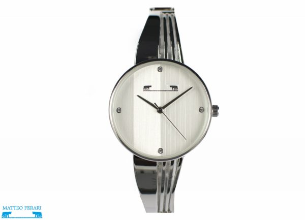 Ceas Dama Matteo Ferari Silver/White Elegant X