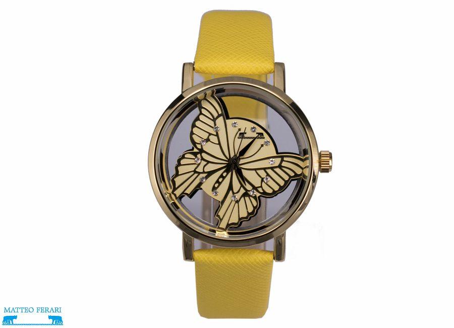 Ceas Dama Matteo Ferari Yellow/Gold Casual XVII
