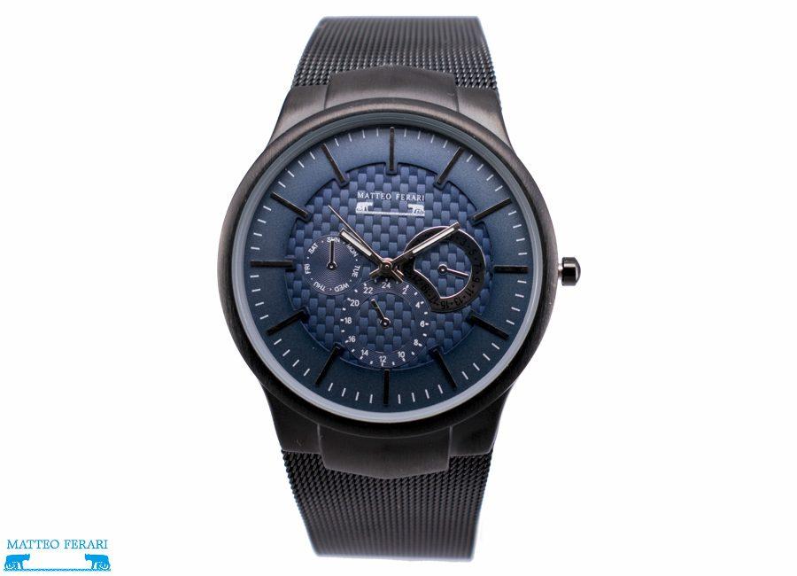 Ceas Barbatesc Matteo Ferari Black/Blue Elegant II