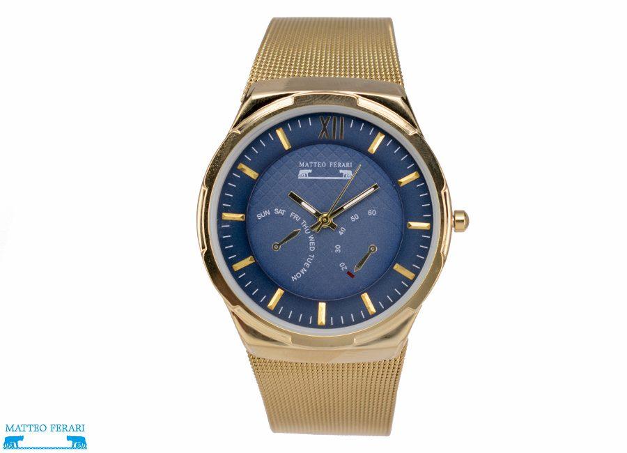 Ceas Barbatesc Matteo Ferari Gold/Blue Elegant IV