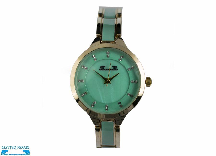 Ceas Dama Matteo Ferari Gold&Green/Green Elegant XVI